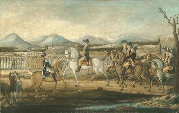 Washington Reviewing The Western Army At Fort Cumberland Maryland
